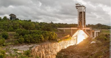 Ariane 5 Solid Rocket Booster fires up for Ground Verification Test