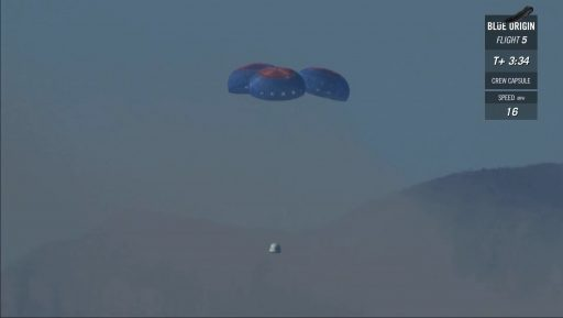 Photo: Blue Origin Webcast