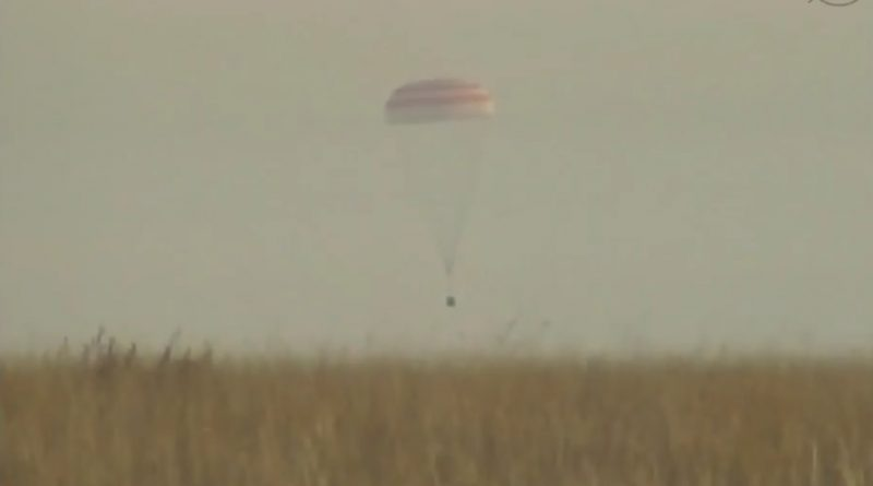 Video: Sunday Morning Landing of Soyuz MS-01 with three ISS Crew Members
