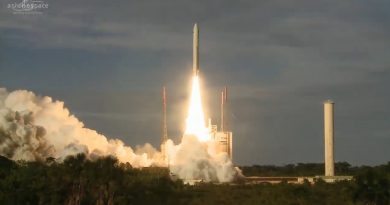 Video: Ariane 5 lifts off with Communications Satellite Duo