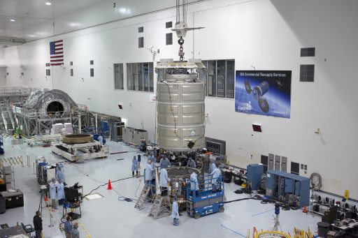 Cygnus Processing at the Kennedy Space Center - Photo: NASA