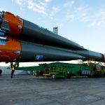 Photos: Soyuz Rocket rolls to historic Baikonur Launch Pad