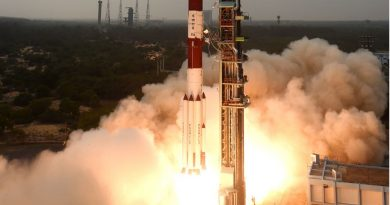 Photos: PSLV Rocket lifts off with Environmental Monitoring Satellite