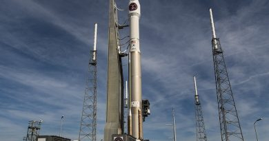 Atlas V rolls out for Year-Opening Launch with critical U.S. Missile Warning Asset