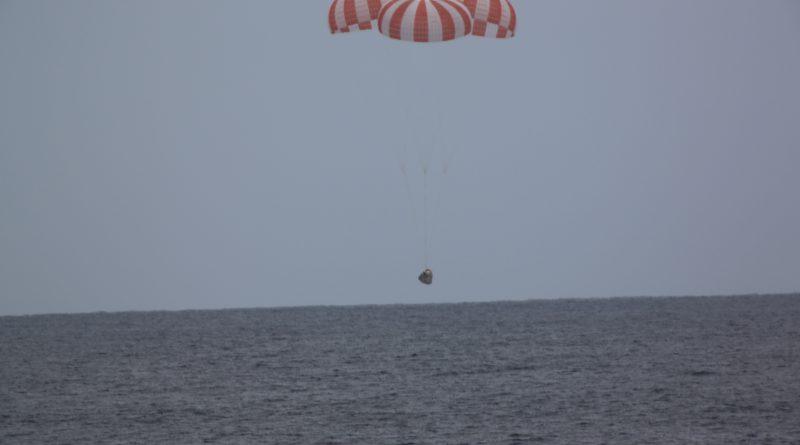 Twice-Flown Dragon Cargo Spacecraft Splashes Down