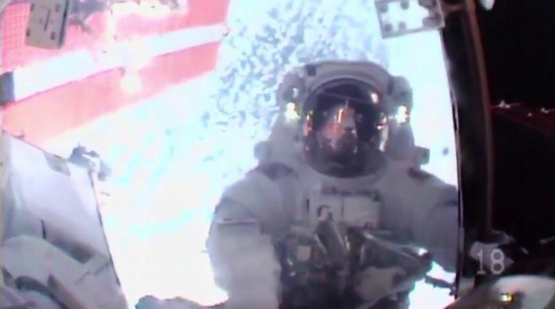 ISS Spacewalkers hook up new Space Station Batteries, blaze through Bonus Task List