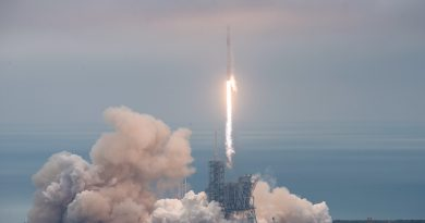 Falcon 9 lifts off on Debut Mission from Kennedy Space Center, 1st Stage Masters On-Shore Landing