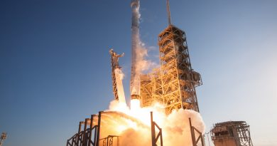 Photos: Falcon 9 blasts off from Florida on First Re-Flight Mission