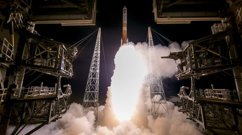 Delta IV thunders into the Night with Internationally-funded Military ComSat