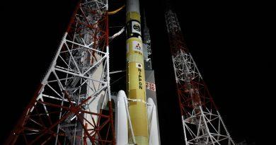 Japanese H-IIA Rocket rolls out for IGS Radar Surveillance Satellite Launch