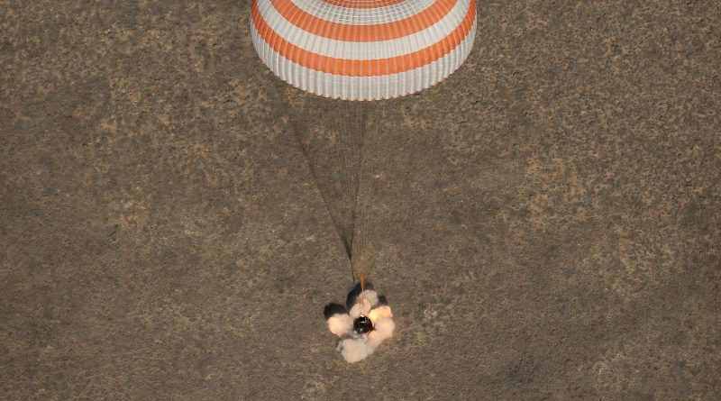 Afternoon Soyuz Touchdown Caps Half-Year Space Mission for Russian-American Crew Trio