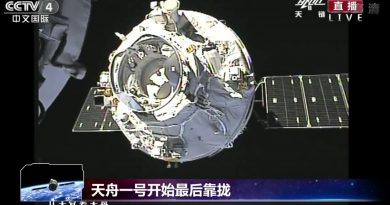 Tianzhou-1 Cargo Demonstration Mission Reaches Orbital Destination after flawless Rendezvous