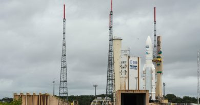 Two Milestone Communications Satellites reach French Guiana Launch Pad atop Ariane 5 Rocket