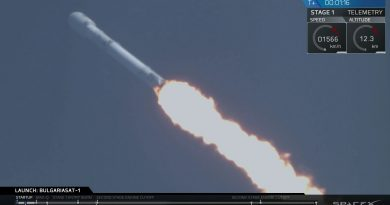 Video: Falcon 9 Launches & Lands Again (BulgariaSat-1 Mission)