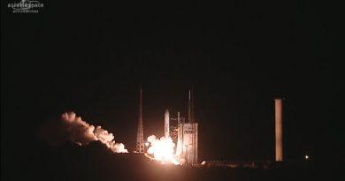 Record-Setting Ariane 5 Launch Delivers Pair of Landmark Communications Satellites to Orbit