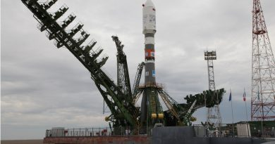 Soyuz Rocket reaches Baikonur Launch Pad for Friday Liftoff with 73 Satellites