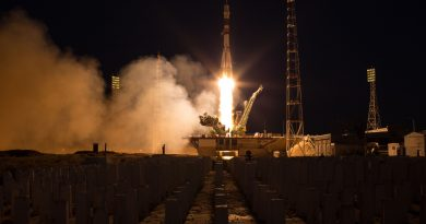Photos: Soyuz Launches at Sunset with Three International Crew Members