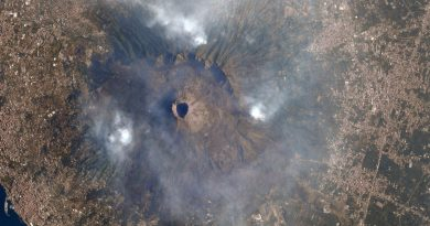 Mount Vesuvius Wildfires Captured from Space