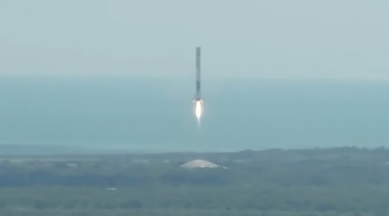 Videos: Falcon 9 lifts Dragon to Orbit, 1st Stage Returns to Cape Canaveral