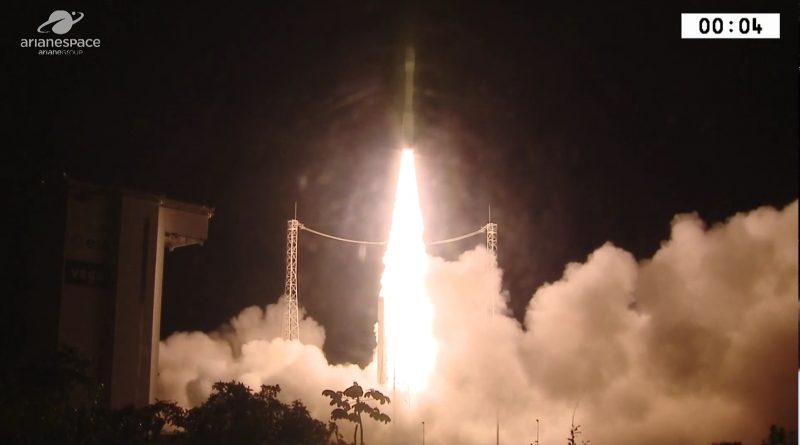 Video: Vega ups to 10/10 with successful Nighttime Launch from French Guiana