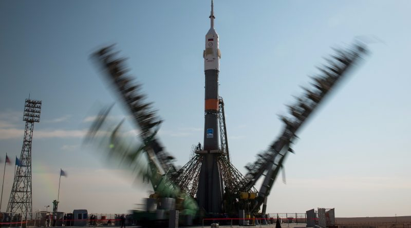 U.S.-Russian Crew Trio on the Eve of Liftoff on 167-Day Space Flight
