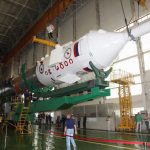 Photos & Video: Soyuz Rocket Assembled for Launch of Next ISS Crew