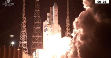 Heavy Communications Satellite Duo Rides to Orbit on Europe's Ariane 5 after three-week Delay