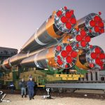 Gallery: Soyuz Rocket Rolls out to Baikonur Launch Pad with Fresh Cargo for ISS
