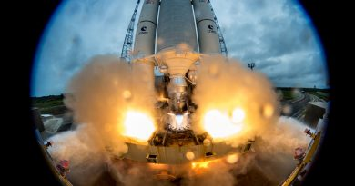 Close-Up Photos: Ariane 5 Leaps Off from French Guiana with Four Galileo Navigation Sats