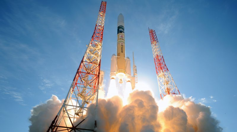 Photos: H-IIA Blasts Off Ocean-Side Launch Pad with Climate Observatory & Technology Satellite
