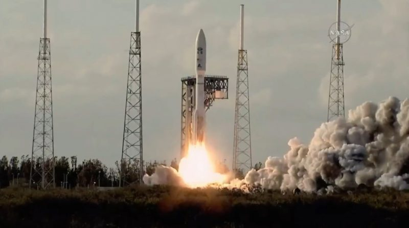 Video: Atlas V Rocket Races Off with GOES-S Weather Satellite