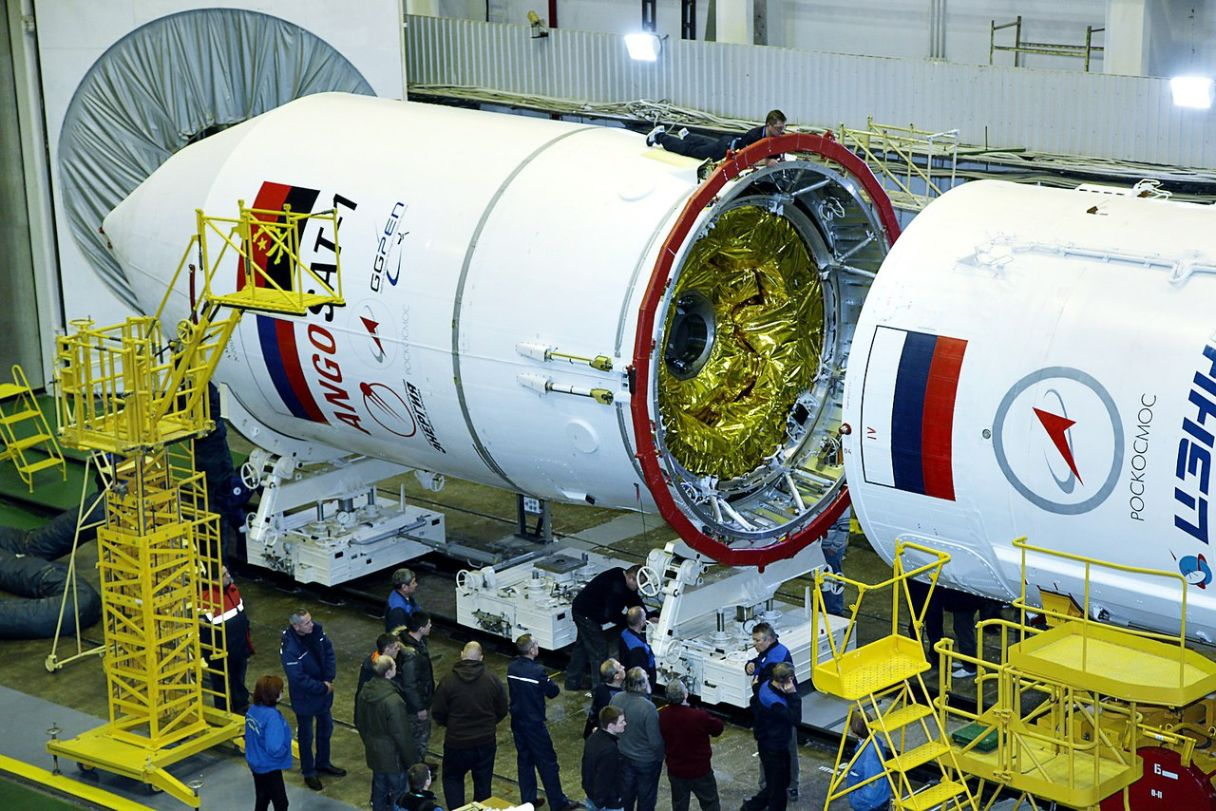 photos  u0026 video  zenit rocket assembly for angosat 1 launch
